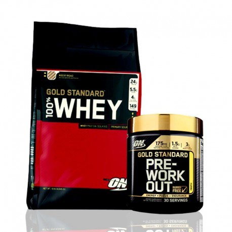 Gold Standard Whey 10 lb + Pre-Workout Optimum Nutrition