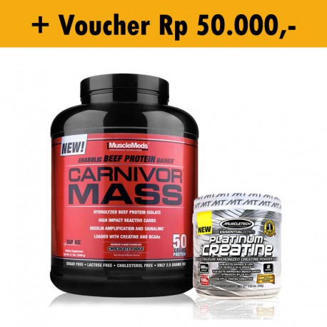 Carnivor Mass 10 lb + Platinum Creatine MuscleTech