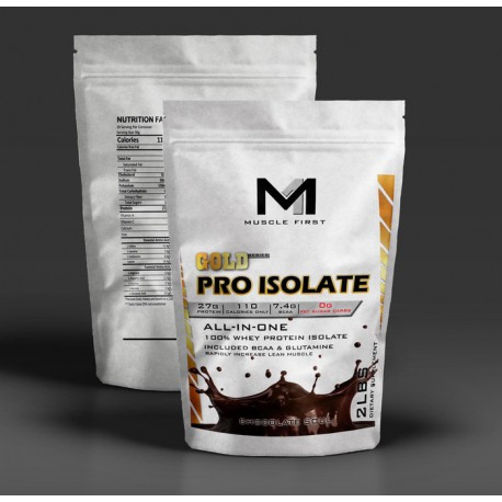 Muscle First Gold Pro Isolate Whey protein 2 Lbs