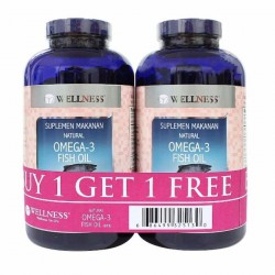Wellness Omega 3 Fish Oil - 375 Softgel ( Buy 1 Get 1 Free)
